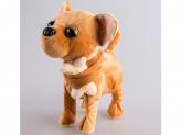 Игрушка мягкая собака, механическая, двигается, поет  23см s-596