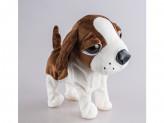 Игрушка мягкая собака, механическая, двигается, поет 21см s-590