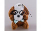Игрушка мягкая собака 8см s-584