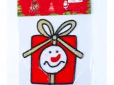 Наклейка 13х12см новогодняя, силикон