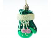 Набор 4 шт новогоднее украшение на елку, 8 см, пластик