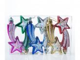 Набор 6 шт новогоднее украшение на елку, 11 см, пластик