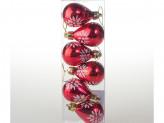 Набор 6 шт новогоднее украшение на елку, 5 см, пластик