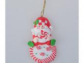 Украшение 10 см на елку, Дед Мороз