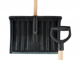 Лопата снеговая пластиковая №5 500х380 d-32 с оцинкованной планкой с v-образной ручкой
