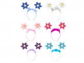 Ободок карнавальный, пластик, полиэстер, 21х18см, 6 цветов