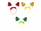 Ободок карнавальный, пластик, полиэстер, 23х17см, 3 цвета