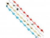 Бусы декоративные со звездочками, 200см, пластик, 4 цвета