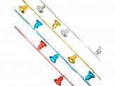 Бусы декоративные с колокольчиками, 200см, пластик, 4 цвета