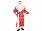 "Костюм карнавальный ""Дед Мороз"", ткань-плюш, р-р XL/56-58/188 (шуба, шапка, варежки, борода, пояс)"