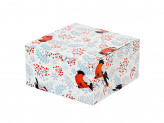 Зимнее настроение Коробка подарочная складная, бумага, 16х16х8,5см