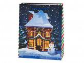 Домики Пакет подарочный бумажный, 26х32х11см