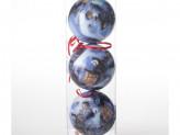 Набор 6 шт новогоднее украшение на елку, 8 см, пластик