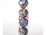 Набор 4 шт новогоднее украшение на елку, 7 см, пластик