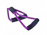 Эспандер для укрепления мышц груди и плечевого пояса, одинарный 36см, латекс, ПЭТ, восьмерка SilaPro