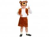 """Костюм карнавальный 3-5 лет, рост 92-116 см, ткань-плюш, """"Мишка бурый"""""""