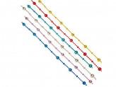 Бусы декоративные, 200см, пластик, 6 цветов 1,4,47,41, 43,28 СНОУ БУМ