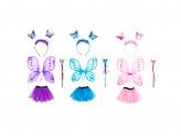Костюм карнавальный с крылышками 4 предмета юбка 3 слоя, 32см, полиэстер, 3 цвета, 3+ СНОУ БУМ