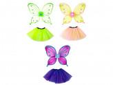Костюм карнавальный с крылышками 2 предмета юбка 3 слоя, 32см, полиэстер, 3 цвета, 3+ СНОУ БУМ