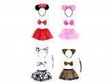 Костюм карнавальный 3 предмета юбка 2 слоя, 27см, полиэстер, 4 дизайна, 2+ СНОУ БУМ