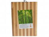 Доска раздел бамбук 26х36х1,3см полоска
