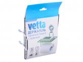 Держатель туалетной бумаги с полочкой, хром, вакуумное крепление 152х131х195мм VETTA