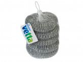 Набор губок металлических 5шт, плетенка, 20г VETTA