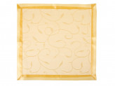 Набор 9 пр. в коробке (скатерть жаккард 150х220см + 8 салфеток), полиэстер, золото