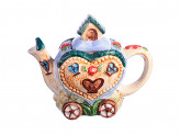 "Чайник заварочный, керамика, 600мл, ""Домик-сердце"" Домики"
