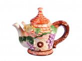 """Чайник заварочный, керамика, 300мл, """"Виноградная лоза"""" Домики"""