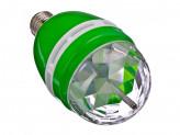Лампочка-проектор, вращение 360 градусов, E27, 3W, пластик, 15см, зеленая