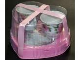 Чайный набор из 4 предметов 220мл фарфор подарочная упаковка