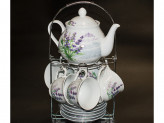 Чайный набор из 13 предметов 220мл фарфор на подставке