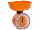 Весы бытовые настольные 5 кг КСА-104 с чашей оранжевые DELTA