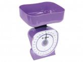 Весы бытовые настольные 5 кг КСА-106 с чашей фиолетовые DELTA