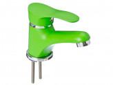 Смеситель klabb 21 для раковины керам картридж 35мм зеленый без подв