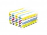 Полотенце махровое 30х70см  полоска  3 цвета
