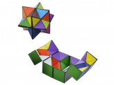 Игрушка-антистресс  кубик-колючий многогранник  пластик 11,5х5,5х2,5см