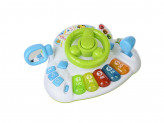 Мешок подарков игрушка электронная большой руль свет звук пластик 3хаа 23,5х19х10см