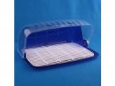 Хлебница 27,3х34,5х16,4см синий полупрозрачный санти