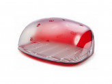 Хлебница 30х36,3х17см красный прозрачный беросси