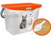 Контейнер для корма для животных 6,0л + совочек мандарин