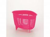 Корзина для раковины угловая розовый