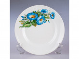 Тарелка 175 мелкая гр8 синий цветок 057