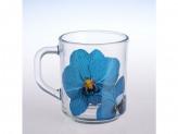 Кружка green tea орхидея синяя