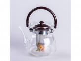 Чайник заварник стекло и сито нержавеющая 1100мл