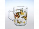 Кружка green tea.желтые бабочки круговая круг