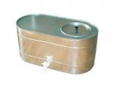 Бак оцинкованный 55л овал для воды с краном, магнитогорск