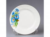 Тарелка 200 мелкая гр8 синий цветок