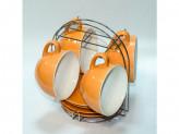Набор чайный керамическая на металлический подставке 8 пр